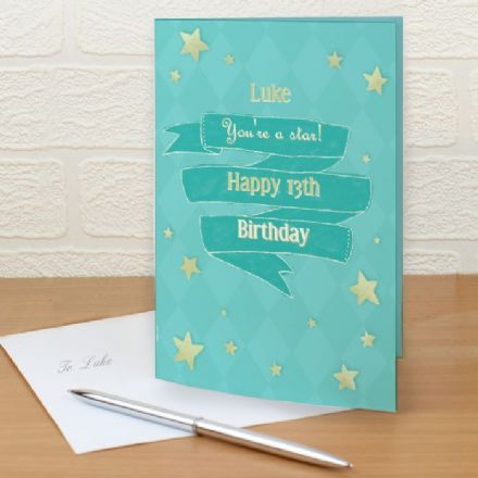 Personalised Shining Star Card